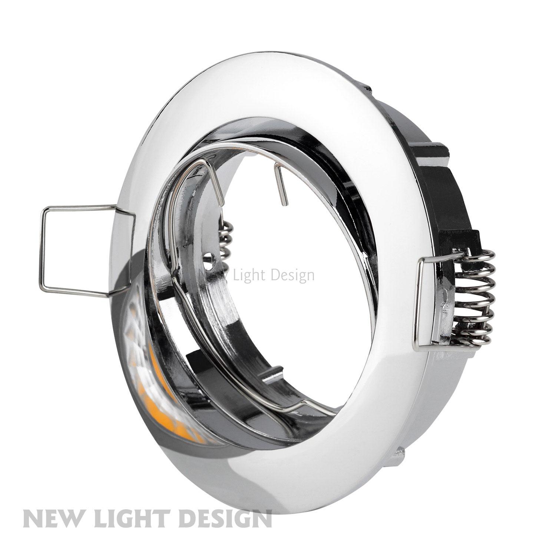 spot encastrable en alu chrome inclinable 30 led cob halog ne gu10 mr16 sets ebay. Black Bedroom Furniture Sets. Home Design Ideas